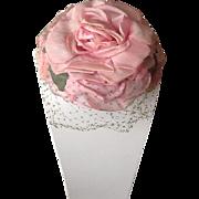 Beautiful little pink silk rose hat