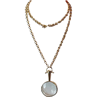 Vintage magnifying necklace