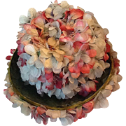 Very pretty silk flower hat