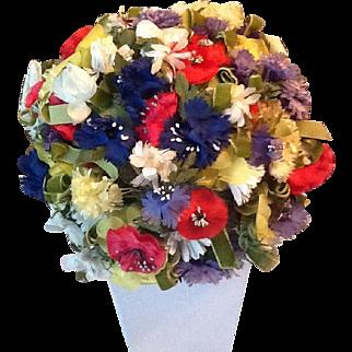 Amazing flowered 50's hat