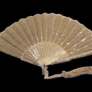 Beautiful Victorian sequin fan