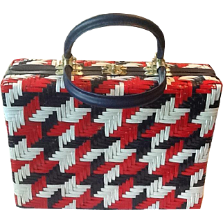 50's Plastic Straw handbag