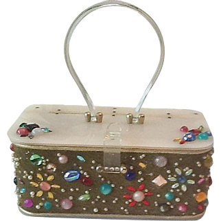 50's Plastic and Jeweled purse