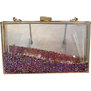Lucite and Confetti purse