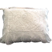 Beautiful vintage pillows with handwork