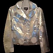 Vintage Dolce and Gabbana silver jacket