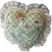 Adorable vintage Boudoir pillow
