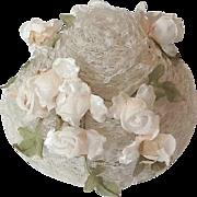 Lilly Dache white net hat