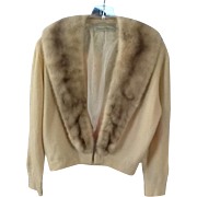 Bernard Altman cashmere and mink sweater