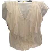 Catherine Melandrino chiffon and silk blouse