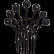 Big black plastic hair comb
