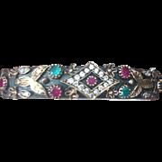 Sterling and semiprecious stone bracelet