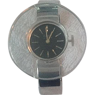 Vintage lucite and metal ladies watch