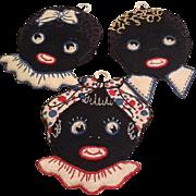 Adorable Vintage Black Face pot holders
