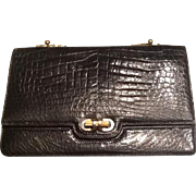 Vintage Alligator clutch handbag