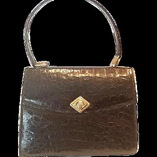 Forest Green alligator purse