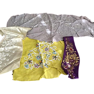 Vintage jeweled fabric pieces
