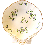 Antique English Coalport Porcelain Shell Dish