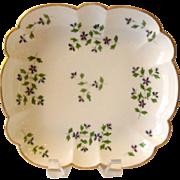 Antique English Coalport Porcelain Square Dish