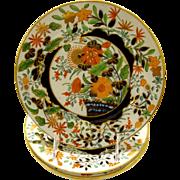 Antique English Coalport Porcelain Plate.  3 available.