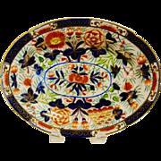 Antique English Coalport Porcelain Oval Dish
