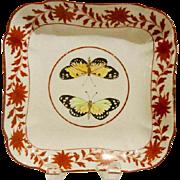 An Early Antique English Coalport Porcelain Square DIsh