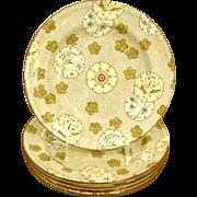 Antique English Mintons Porcelain Plates. 5 Available.