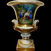 Antique French Old Paris Porcelain Vase