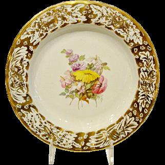 Antique Derby Porcelain Plate.  William Quaker Pegg.