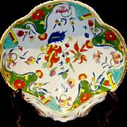 Antique English Coalport Porcelain Shell Shaped Dish