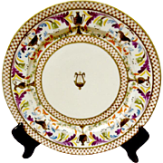 Antique French Paris Porcelain Plate ( 10 Available )