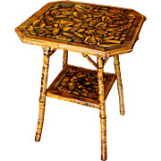Octagonal Bamboo Side Table