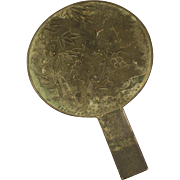 Japanese Bronze and Silver Hand Mirror