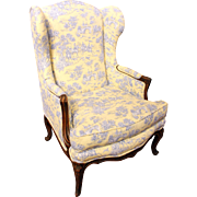 French Winged Louis XV Style Bergere