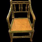 English Faux Bamboo Chair