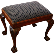English Carved Mahogany Stool