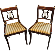 Pair of American Federal Period Klismos Side Chairs