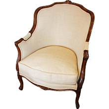 French Rococo Style Beech Bergere