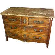 Parisien Marble Top Walnut Commode