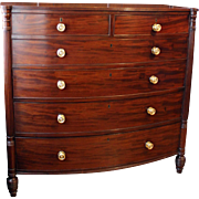 Regency Tall Bowfront Chest