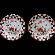 Pair of English Kutani Plates