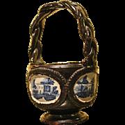 c. 1780 Italian Glazed Redware Basket