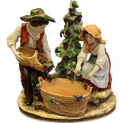 """The Wine Makers"" Porcelain Capodimonte"