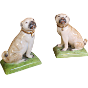 Pair of Porcelain Pugs