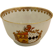 18th Century Chinese Export Armorial Tea Bowl