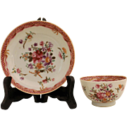 18th Century Chinese Export Cup & Saucer