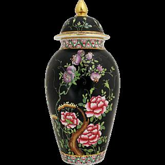 Cetem Ware Floral Motif Covered Urn