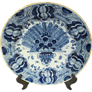 Late 18th Century Delft Charger