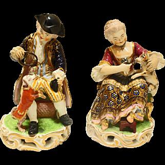 Pair of Derby Figurines