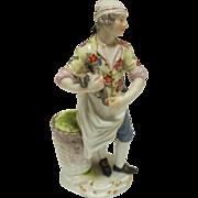 """""""The Butcher with Bird"""" Meissen Figure"""